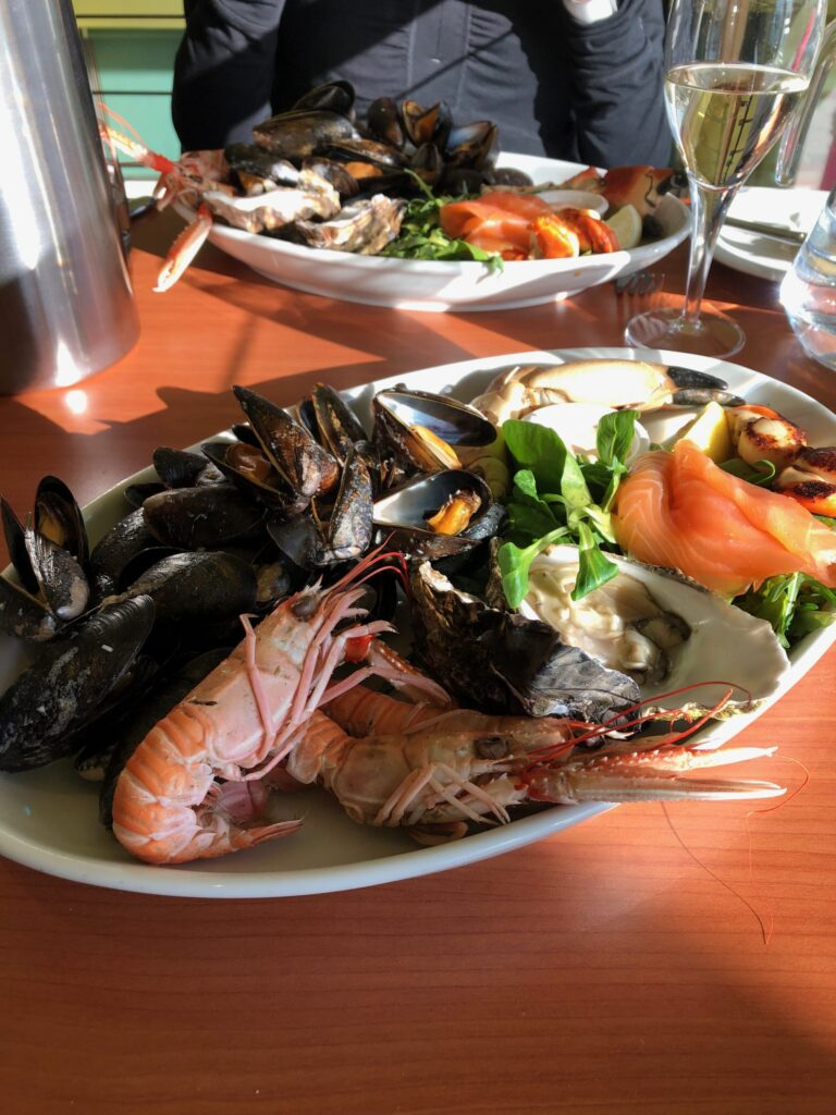 Seafood at Oban on the Pier