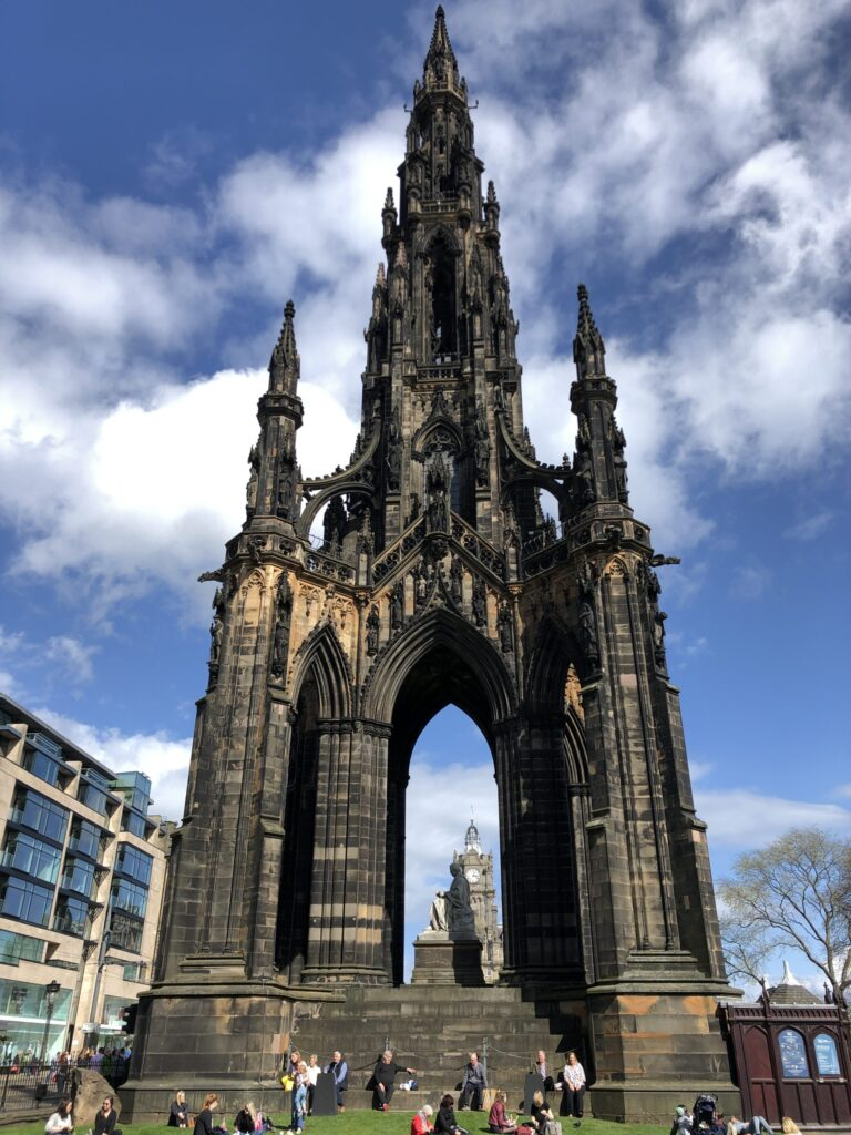 Sir Walter Scott Monument in Edinburgh Scotland
