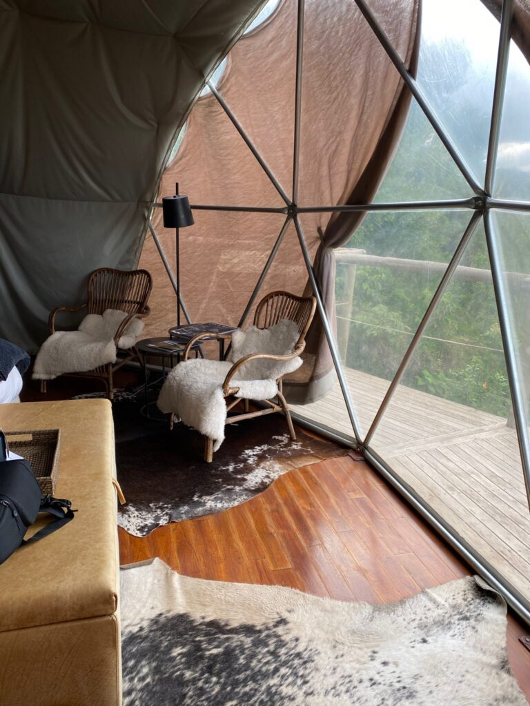 Our Sitting Area in the Bedroom at the Highlands Camp, in Ngorongoro Crater, Tanzania