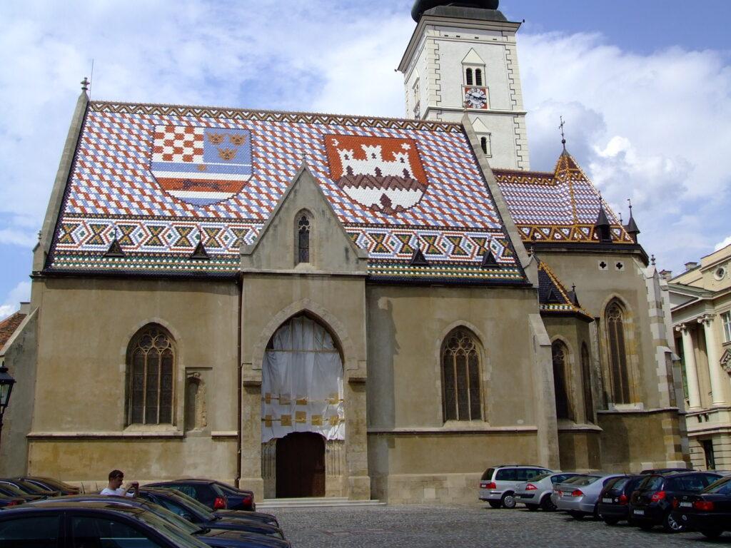 St Mark's Church in Zagreb Croatia