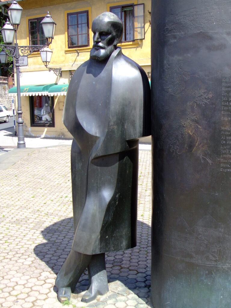 Statue of August Senoe (Zagreb) in Zagreb Croatia