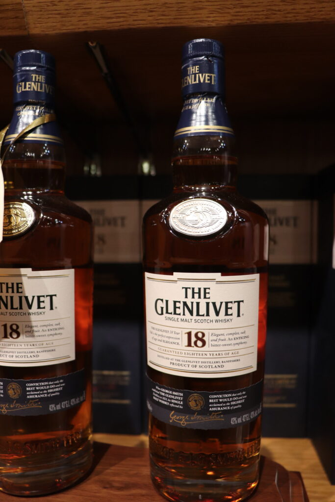 The Glenlivet 18 Year Old Scotch from the Speyside Region of Scotland