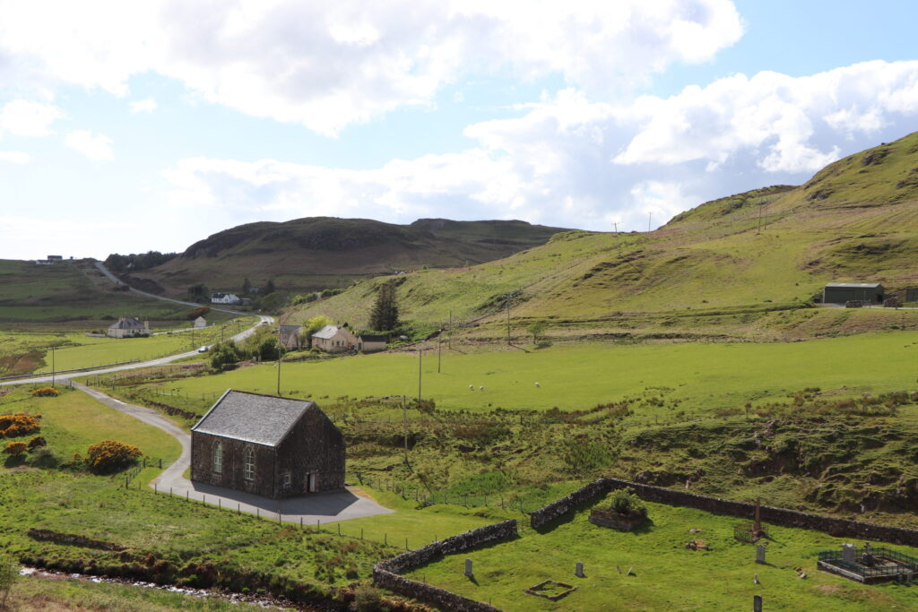The Isle of Skye of the Highlands of Scotland