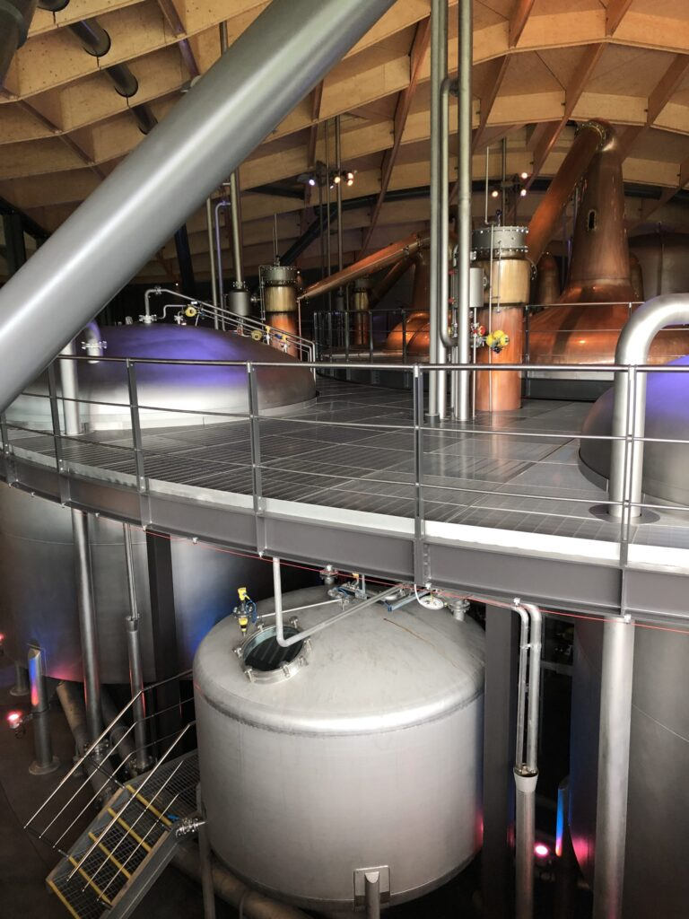 The Macallan Fermenting and Mashing Tanks at the Distillery located in the Speyside Region of Scotland
