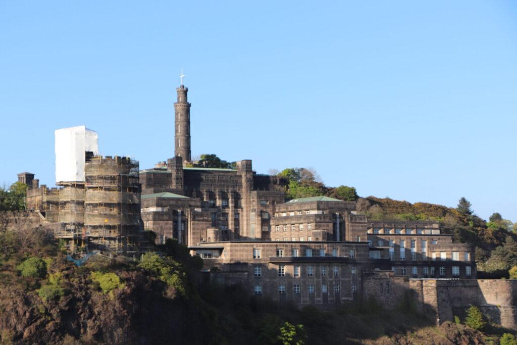 View of Calton Hill at Edinburgh Scotland