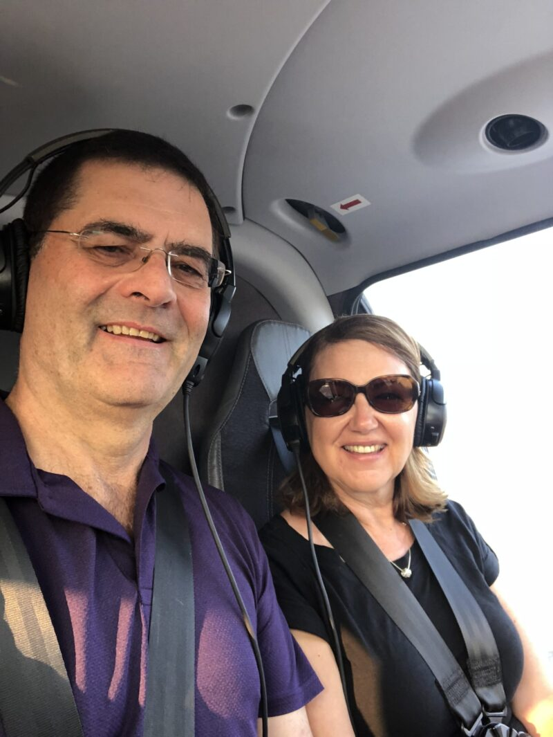 Larry and Verna in Helicopter