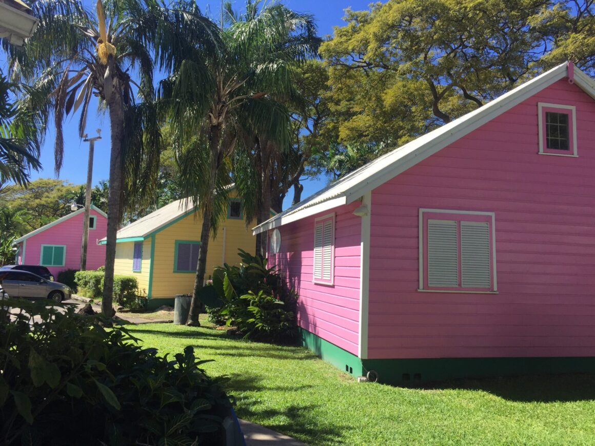 Barbados colour chattel houses