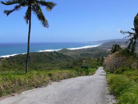 Barbados Road Along Shoreline