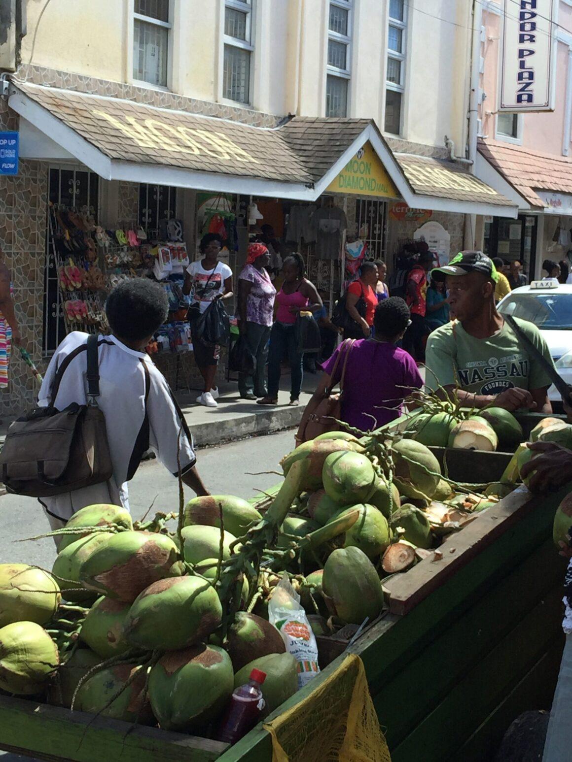 Barbados Bustling Bridgetown Market Stalls