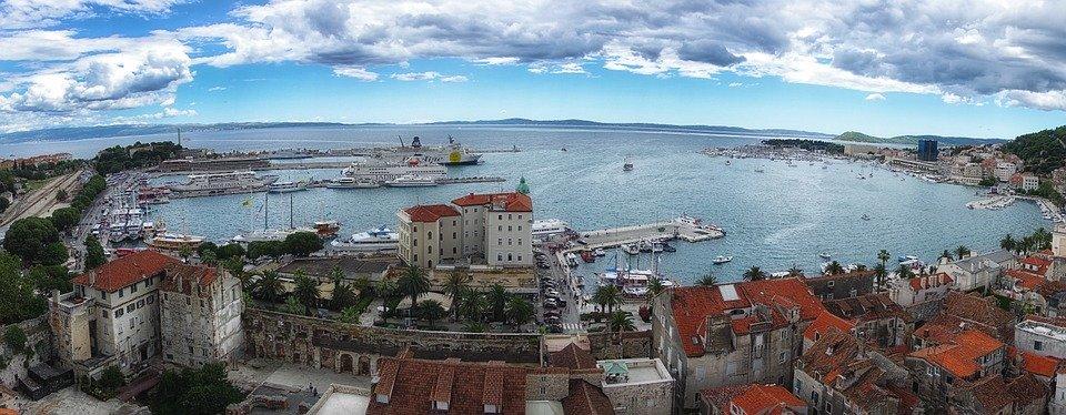 Panorama View of Split Harbour