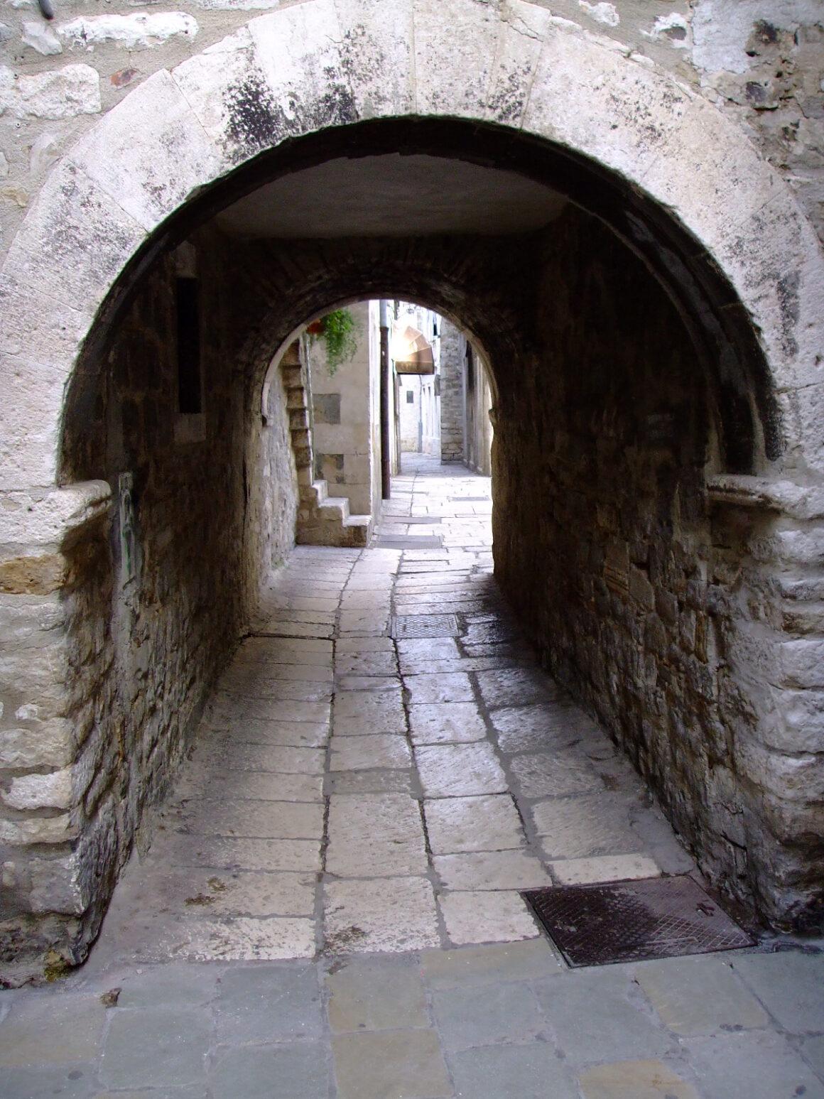 Pathway in Old Town Split