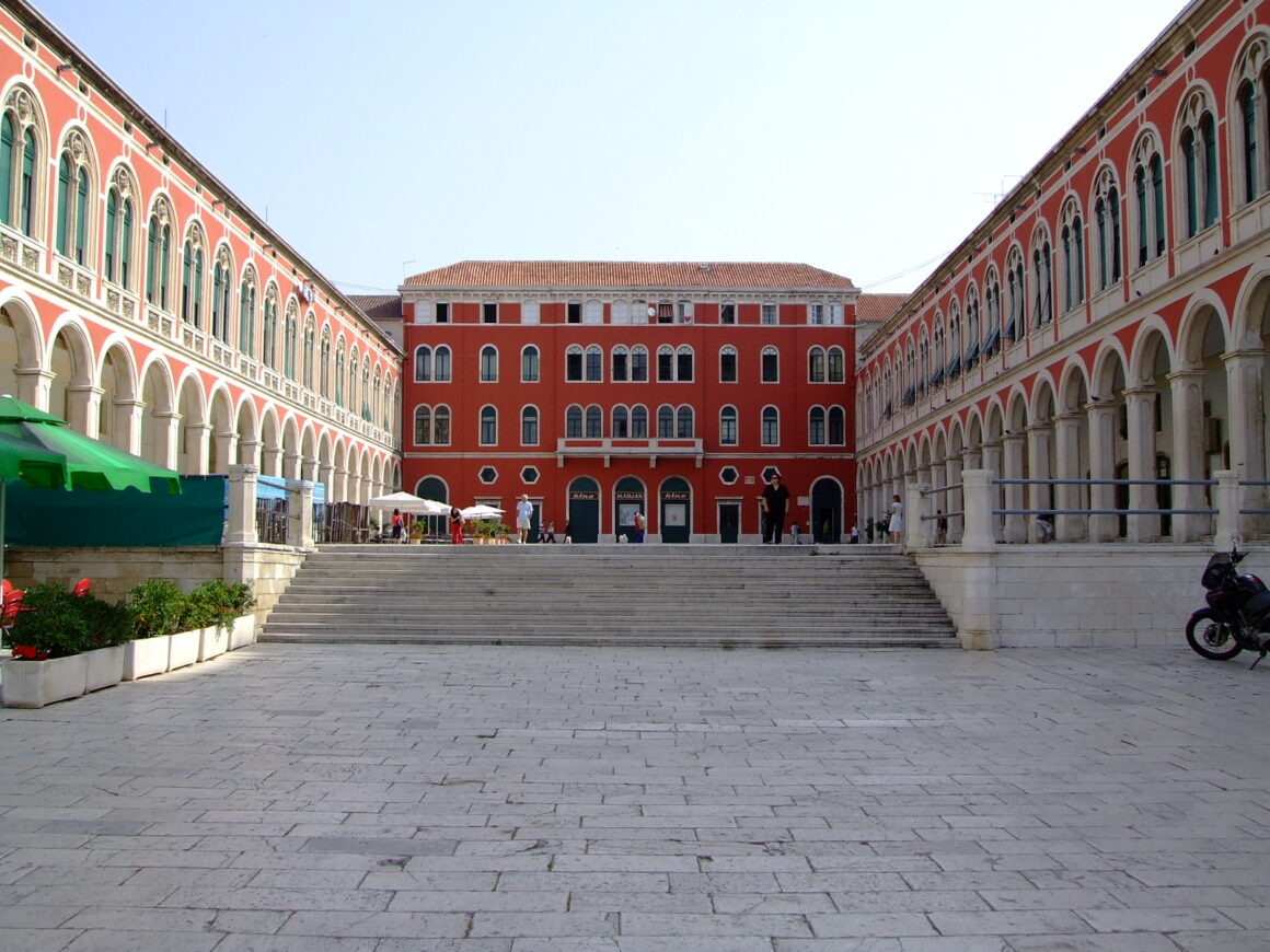 Republic Square Located in the Centre of Split on the west side of Diocletian Palace