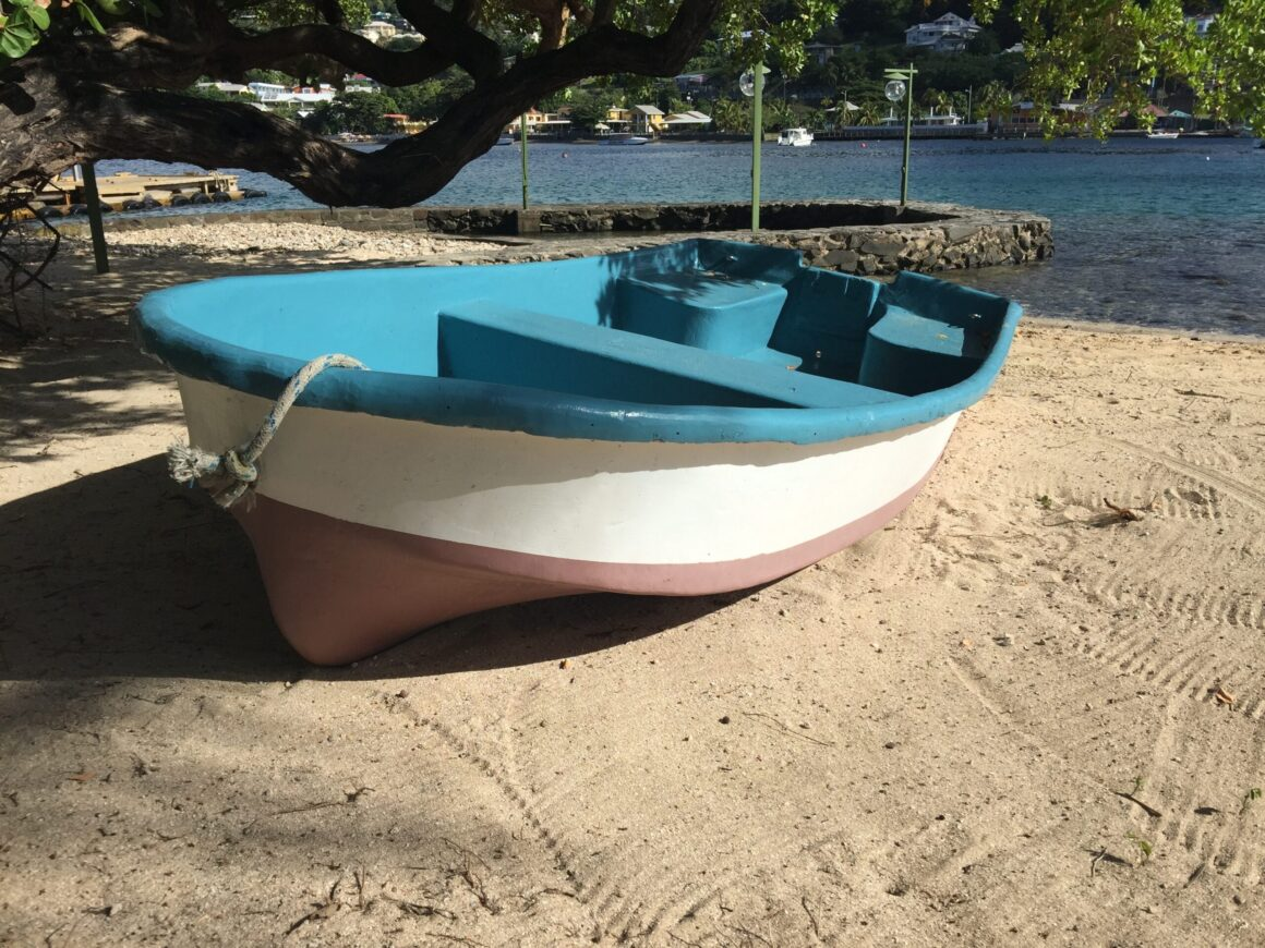 Row Boat on Young Island Beach