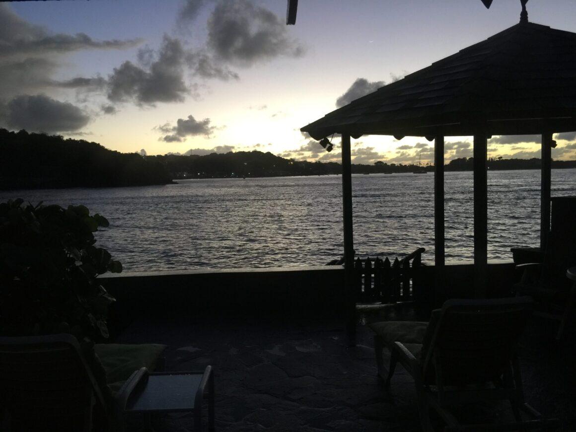 Sun Setting on Young Island Resort