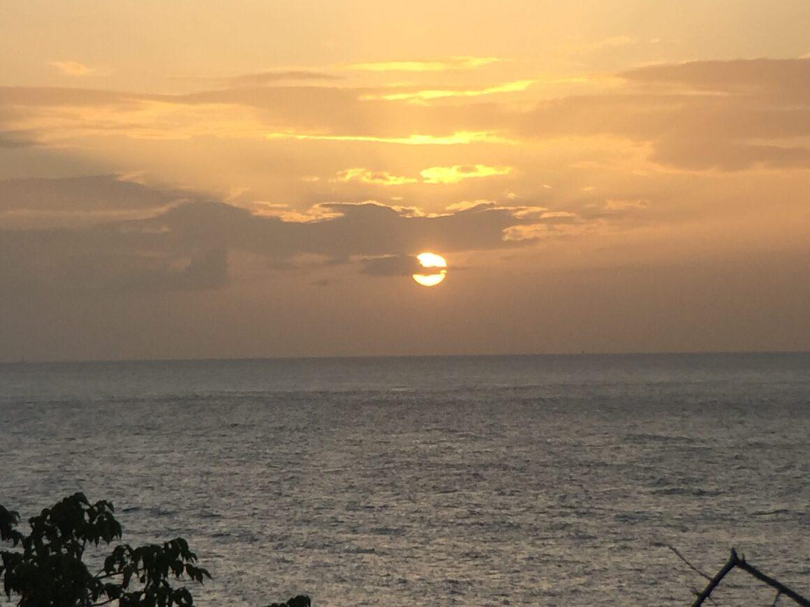 Sunset on St Vincent