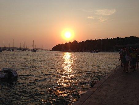 Sunset Over the Bay at Hvar