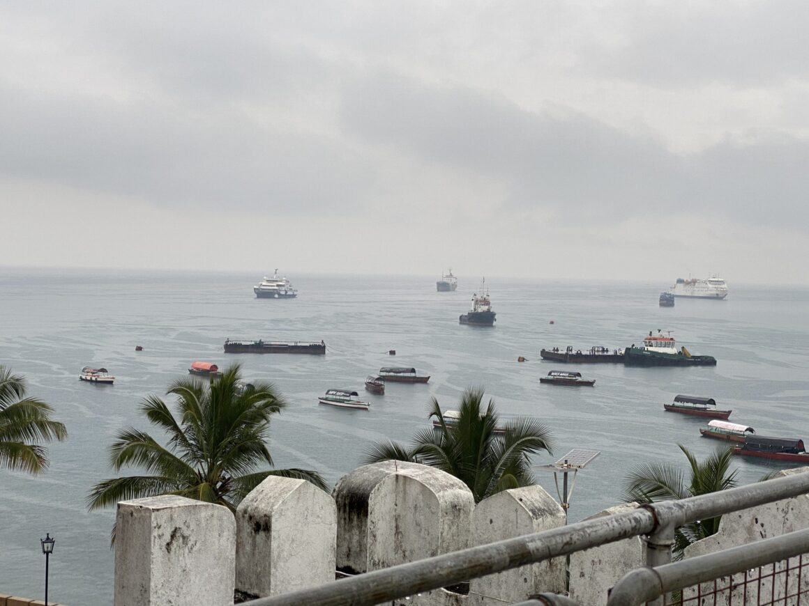 View of harbour from Palace Museum located in Stone Town
