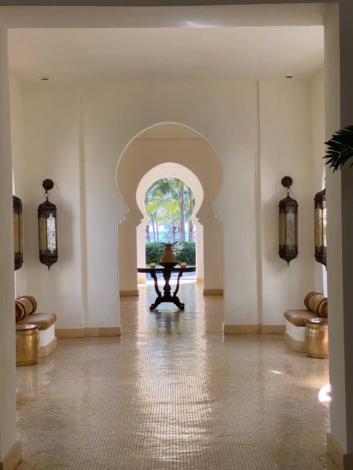 Baraza Resort archways in hotel