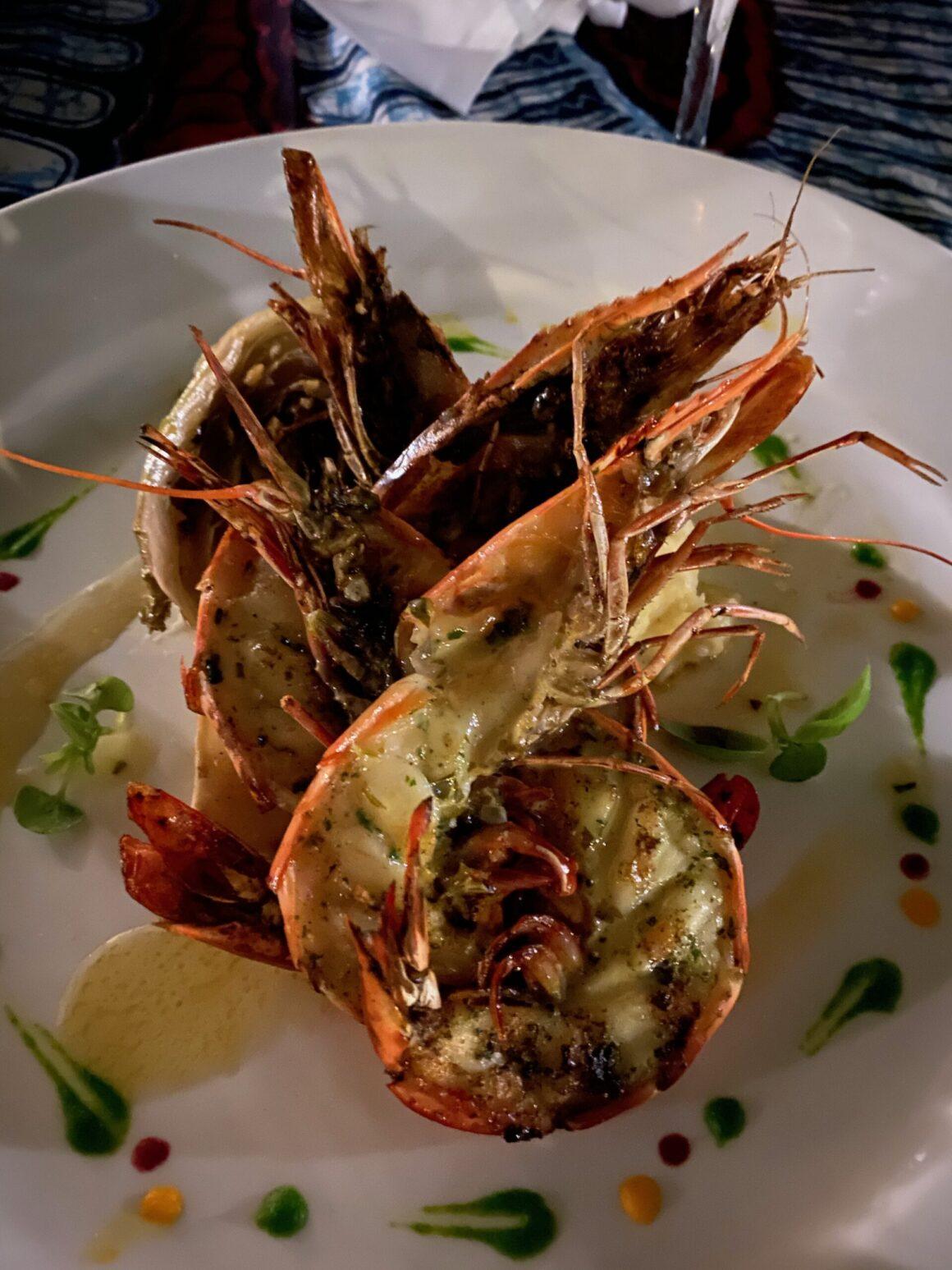 Baraza Resort lobster dinner