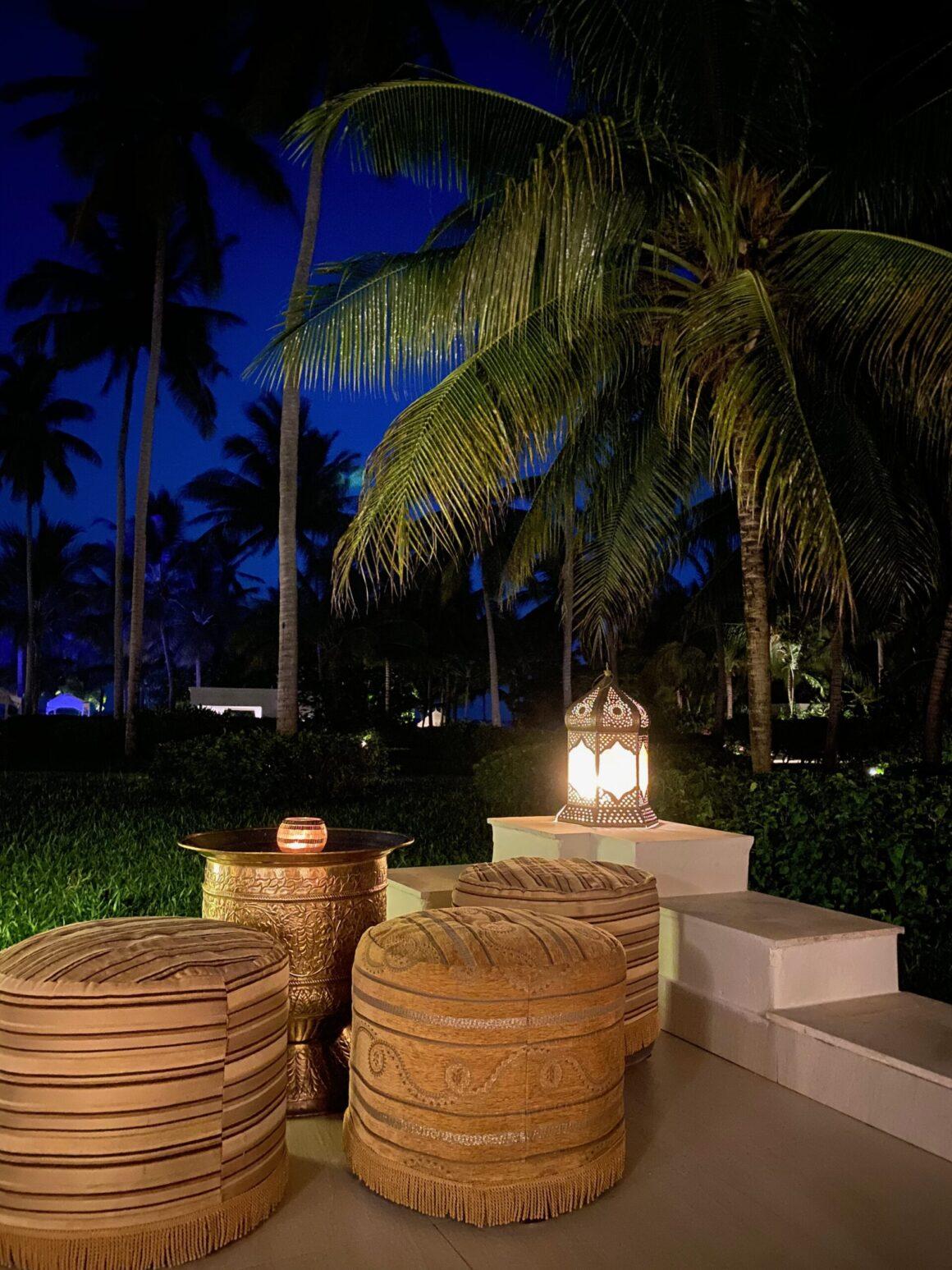 Baraza Resort lounge at night