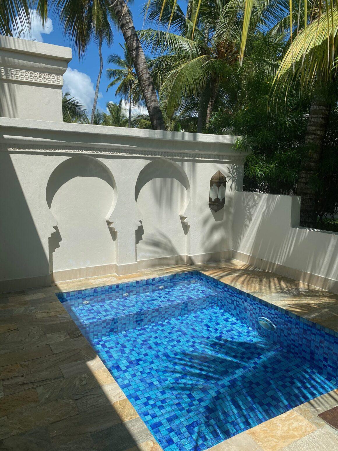 Baraza Resort plunge pool at room