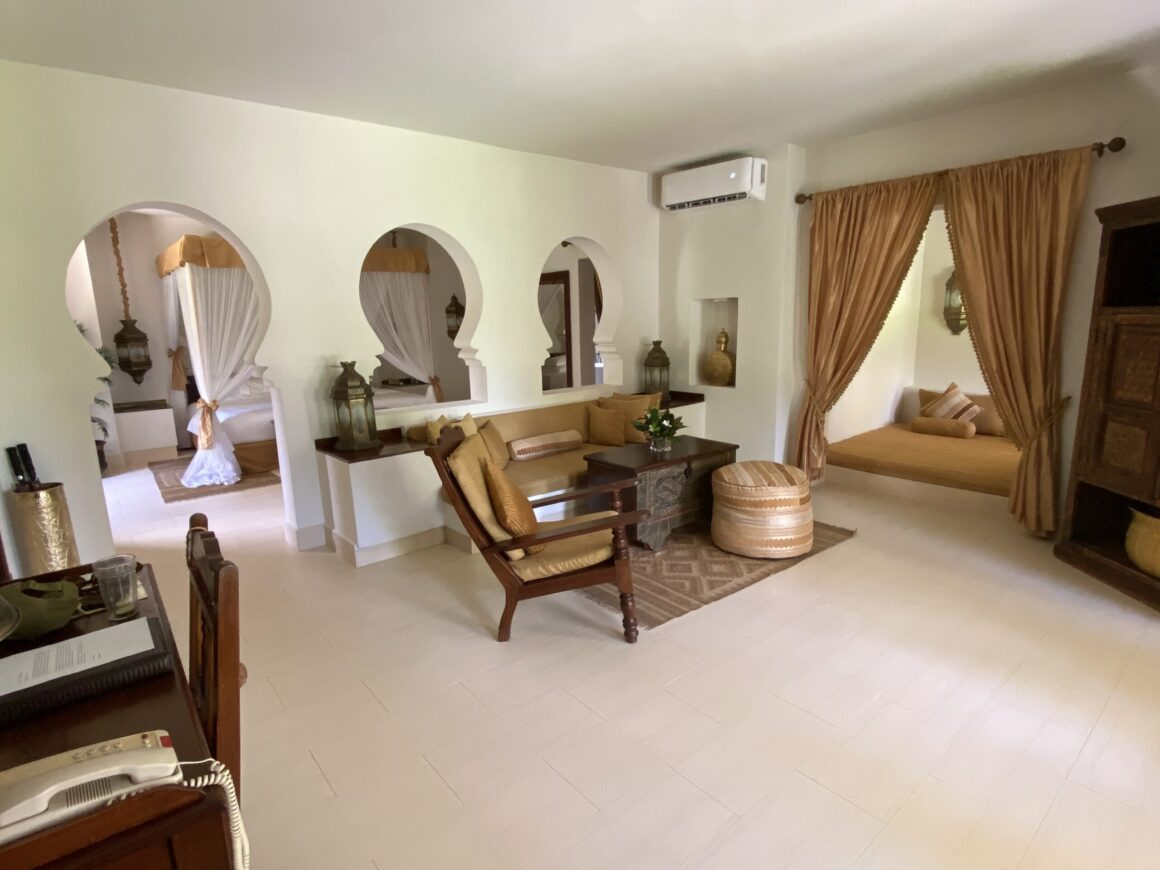 Baraza Resort reception area in room
