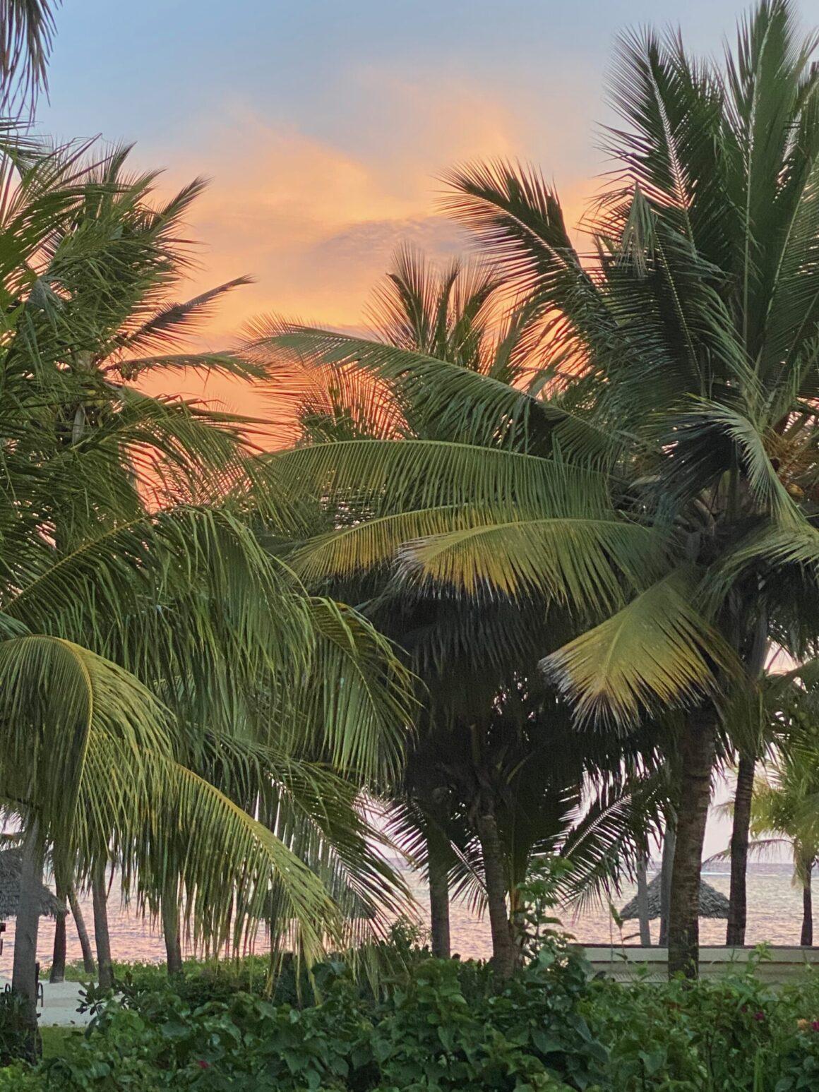 Baraza Resort sun setting
