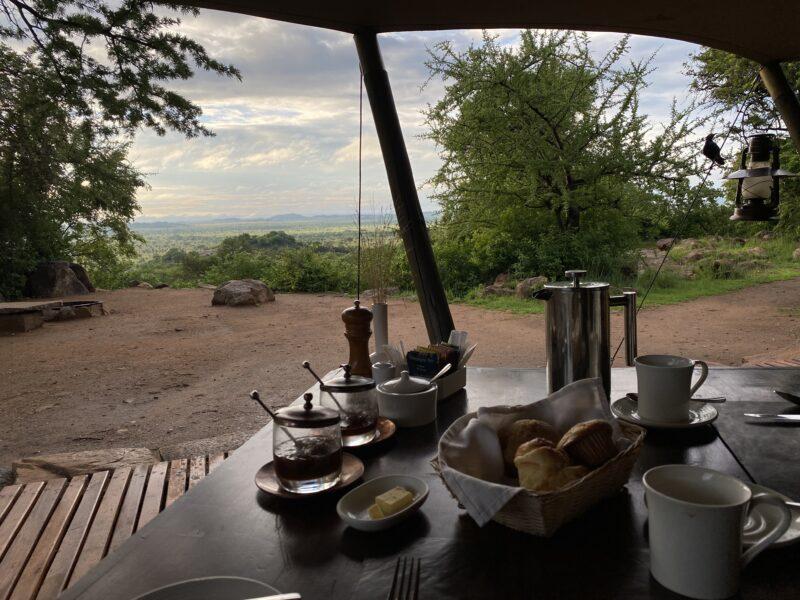 Breakfast at the Elewana Pioneer camp in the Serengeti
