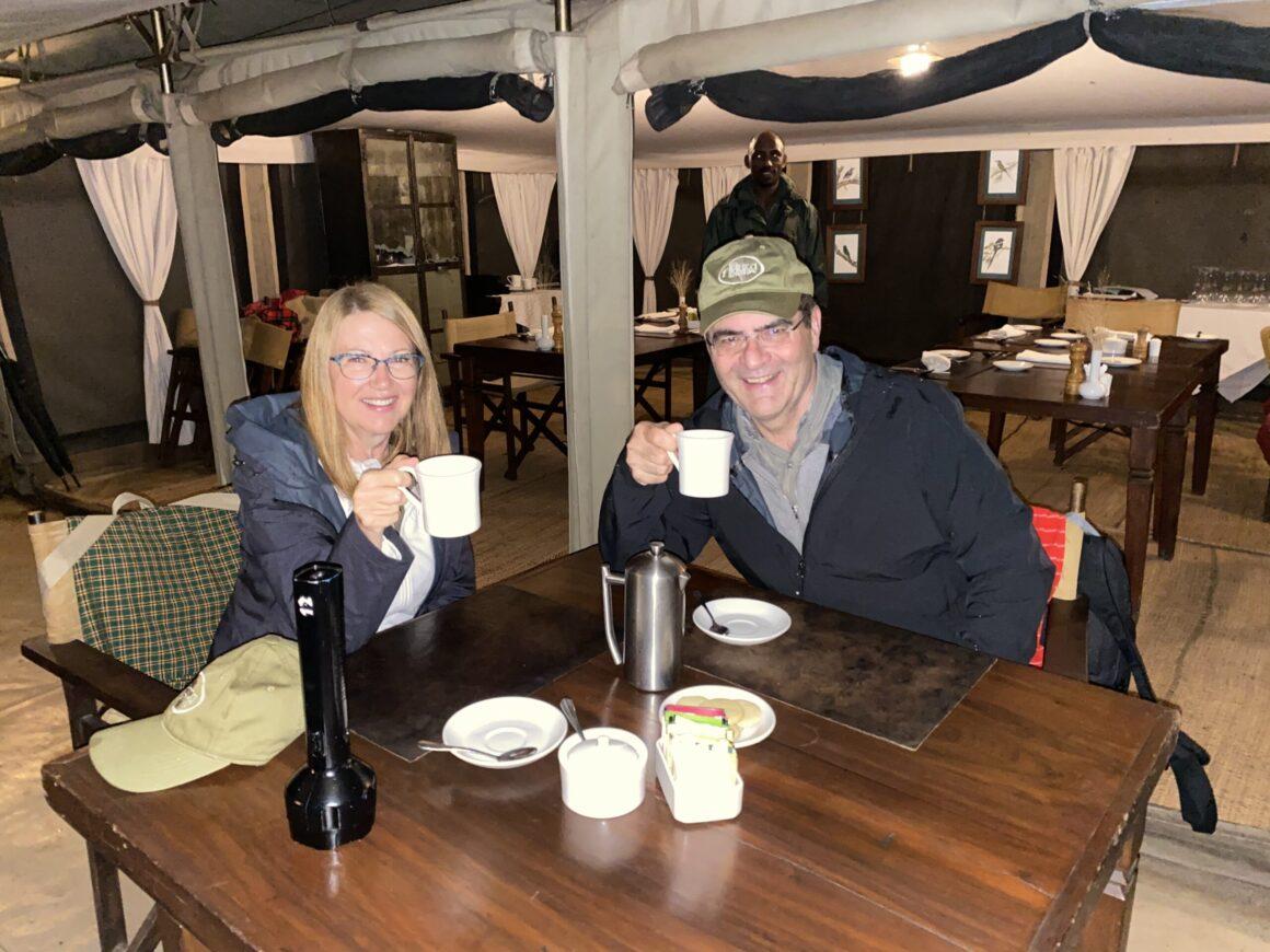 early breakfast at elewana pioneer camp
