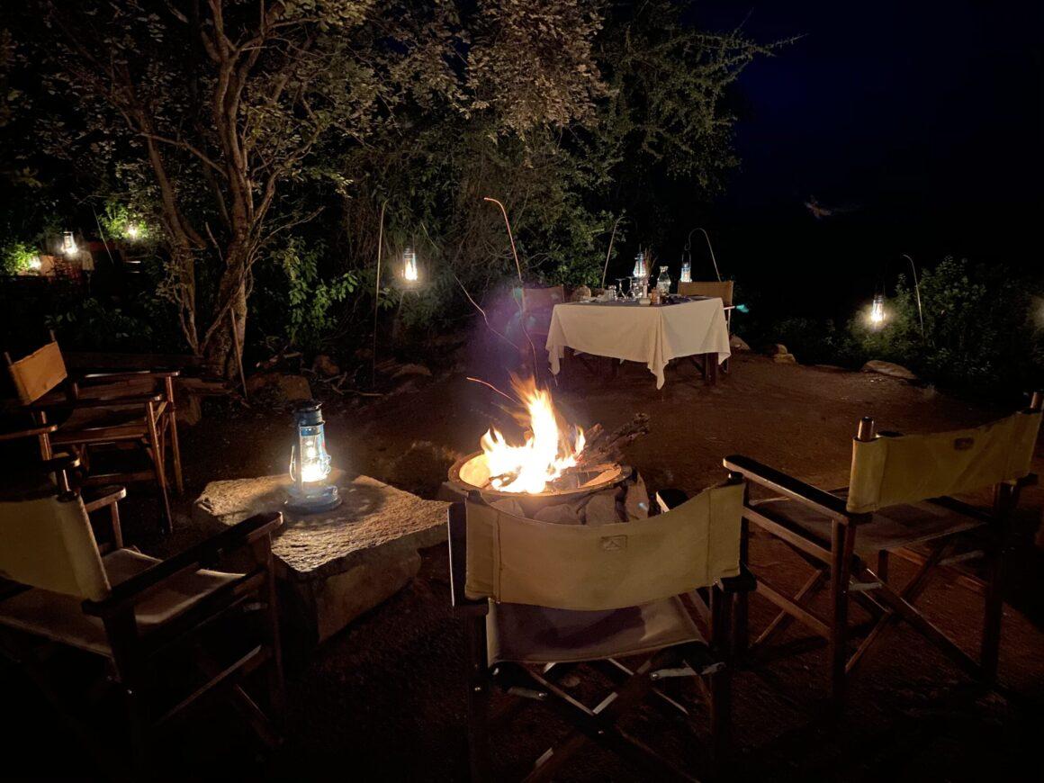 evening at elewana pioneer camp