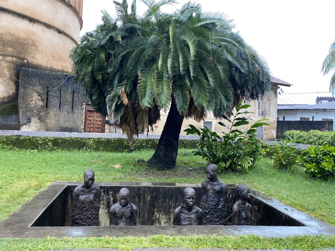 Monument to slavery located next to the Anglican Cathedral in Stone Town