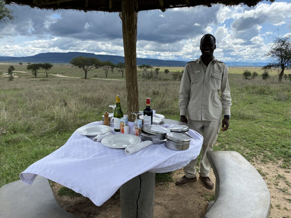 picnic lunch on the serengeti