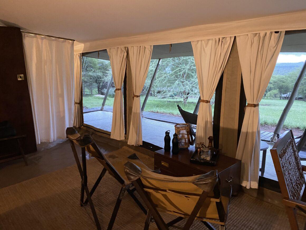 view from master bedroom elewana pioneer camp