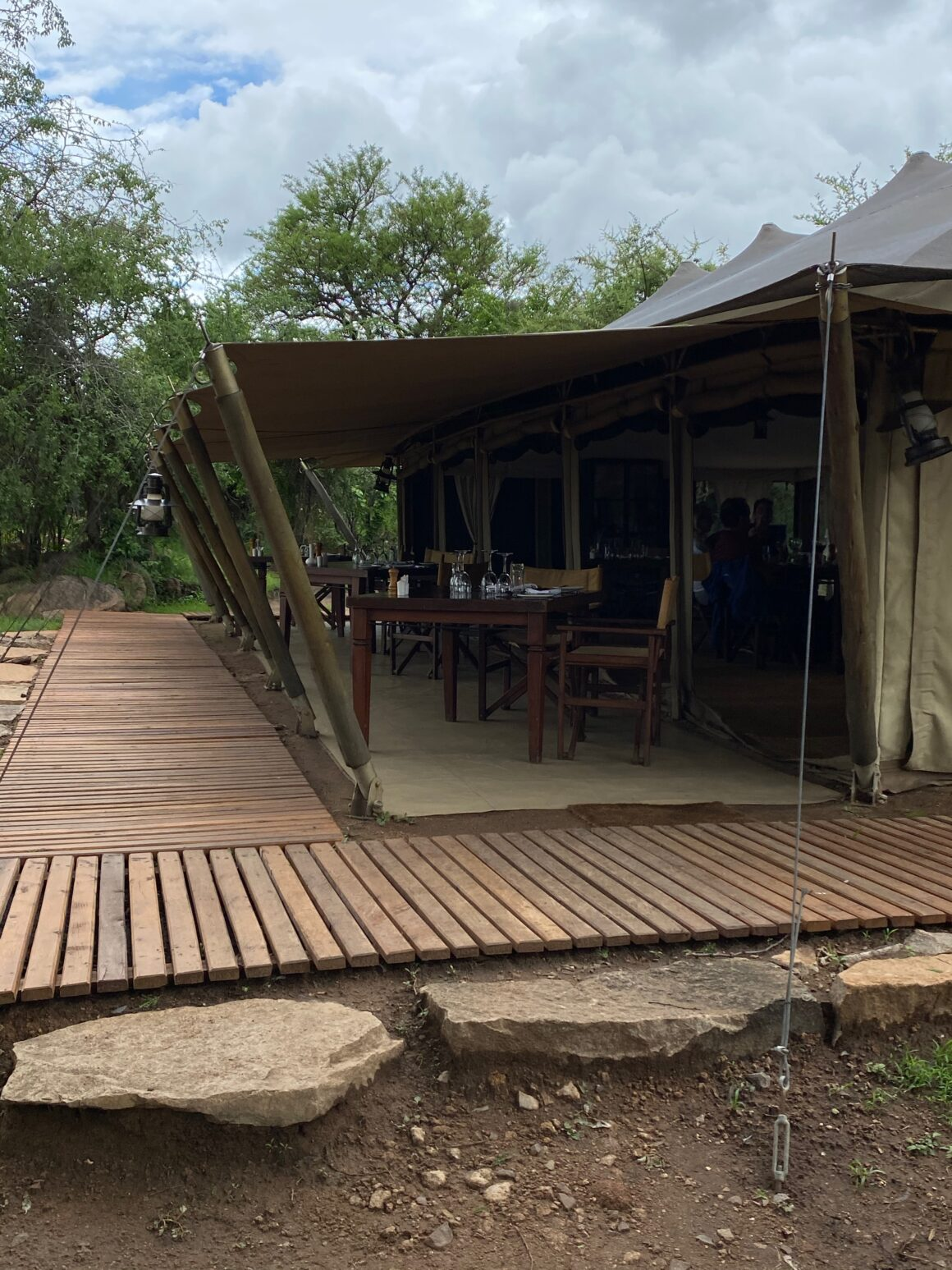 wrap around patio at elewana pioneer camp